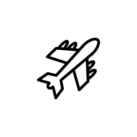 Charter flight line icon. Airplane, airbus, plane. Aircraft concept. Vector illustration can be used for topics like airport, travel, delivery