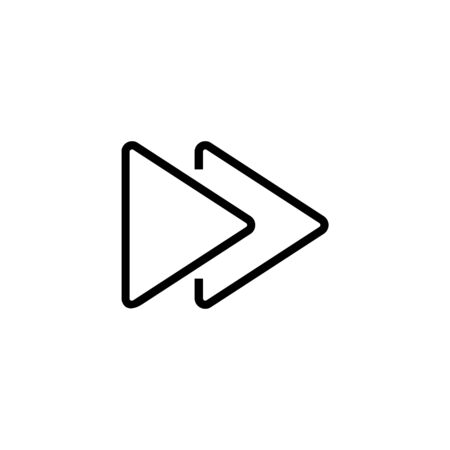 Forward symbol line icon. Arrow, right, switching. Simple symbol concept. Vector illustration can be used for topics like internet, social networks, widget Çizim