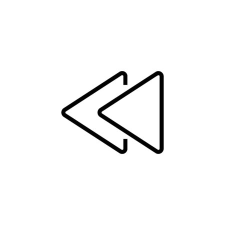Rewind symbol line icon. Button, arrow, switching. Simple symbol concept. Vector illustration can be used for topics like internet, social networks, widget