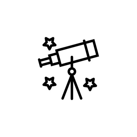 Astronomy class line icon. Telescope, astrology, research. School concept. Vector illustration can be used for topics like education, science, space