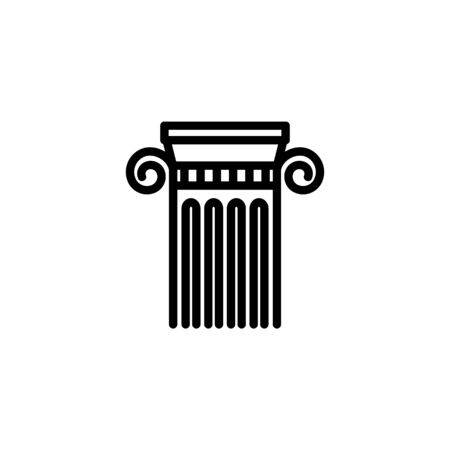 History class line icon. Column, Ionic order, Greek style. School concept. Vector illustration can be used for topics like education, architecture, ancient world