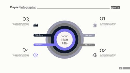 Four circles process chart. Business data. Infochart, step, design. Creative concept for infographic, templates, presentation, marketing. Can be used for topics like marketing, planning, teamwork. 일러스트