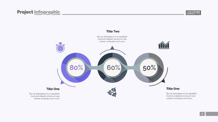 Implementation infographics slide template. Business data. Graph, diagram, design. Creative concept for infographic, report. Can be used for topics like fulfillment, project, business performance 向量圖像