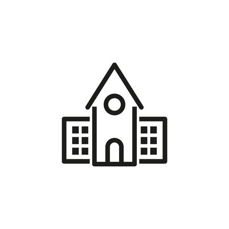 College dormitory line icon. Accommodation, urban, district. Architecture concept. Can be used for topics like campus, building, residence