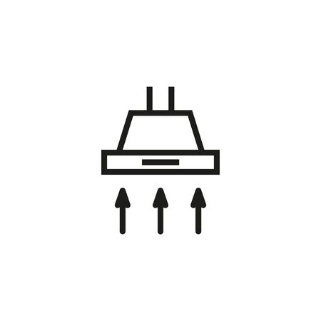 Cooking hood line icon. Appliance, stove, smell. Kitchenware concept. Can be used for topics like ventilation, equipment, kitchen Vector Illustration