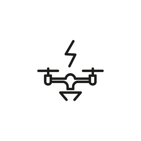 Drone charge line icon. Gadget, aircraft, quadcopter. Battery concept. Can be used for topics like technology, hobby, toy