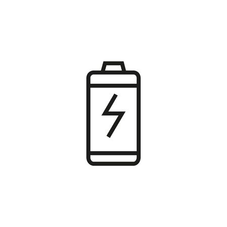 Power battery line icon. Charger lightning, generator. Electricity concept. Can be used for topics like charge, voltage, accumulator Ilustração