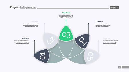 Petal diagram with five elements. Chart, slide, template. Creative concept for infographics, presentation, project, report. Can be used for topics like business, strategy, planning