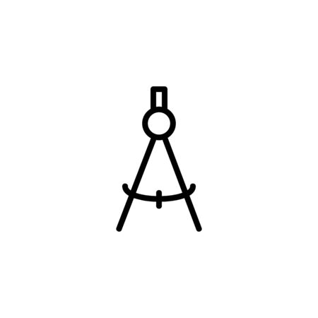 Calipers vector line icon. Craft, handmade, drawing. Design concept. Vector illustration can be used for topics like hobby, painting, stationary
