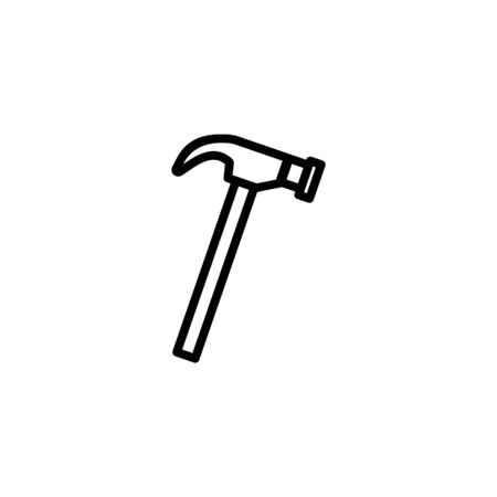 Hammer vector line icon. Craft, repair, instrument. Craft concept. Vector illustration can be used for topics like furniture, handicraft, renovation Illustration