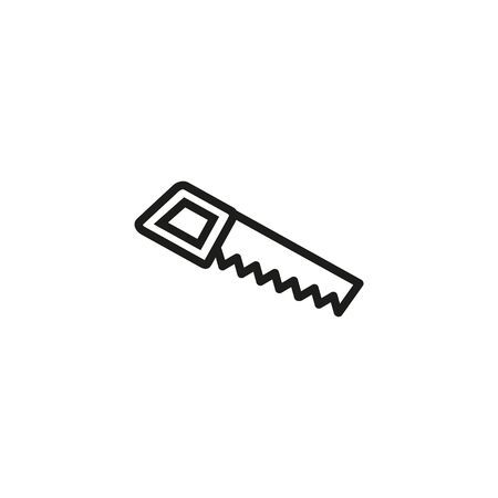 Handsaw vector line icon. Craft, furniture, instrument. Craft concept. Vector illustration can be used for topics like hobby, handicraft, business