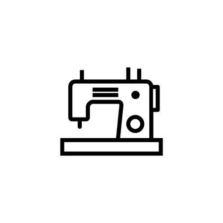 Sewing machine vector line icon. Needle, handmade, thread. Sewing concept. Vector illustration can be used for topics like hobby, business, needlework 일러스트
