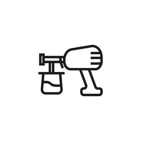 Air brush line icon. Graffiti, spray gun, auto maintenance. Painting concept. Vector illustration can be used for topics like paint app, leisure, renovation