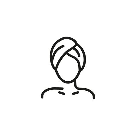 Beauty skin line icon. Woman client, spa salon, ladies change room. Skincare concept. Vector illustration can be used for topics like beauty, cosmetics, hygiene