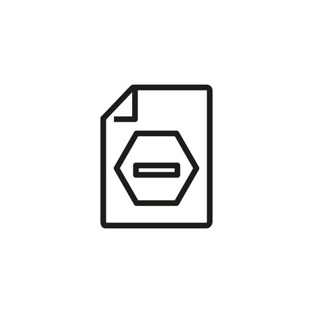 Blocked document line icon. Rejection, banned document, declined application. Reject or cancel concept. Vector illustration can be used for topics like business, crime, finance