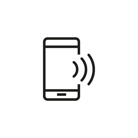 Smartphone with wifi line icon. Phone speaker, mobile internet. Communication concept. Vector illustration can be used for topics like wireless technology, connection, internet