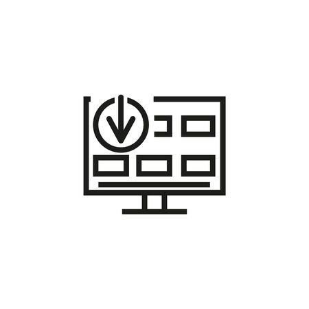 Contributor line icon. Remote job, screen, internet. Freelance job concept. Vector illustration can be used for topics like internet work, freelance, occupation