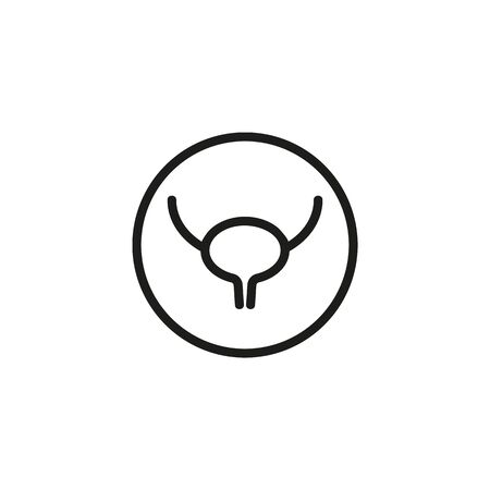 Human bladder line icon. Medicine, body, nature. Human organs concept. Vector illustration can be used for topics like biology, anthropology, physiology