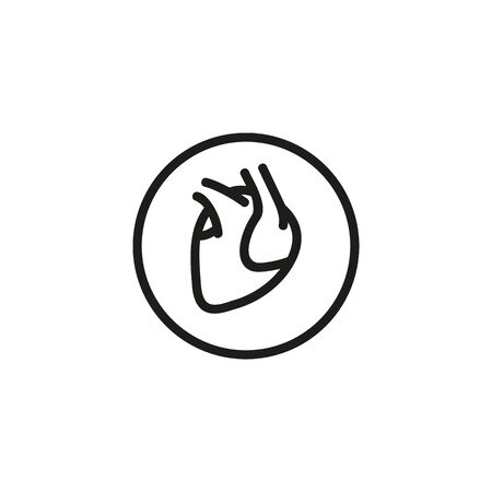 Human heart line icon. Medicine, body, nature. Human organs concept. Vector illustration can be used for topics like biology, anthropology, physiology
