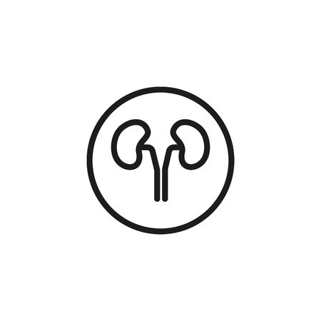 Human kidneys line icon. Medicine, body, nature. Human organs concept. Vector illustration can be used for topics like biology, anthropology, physiology