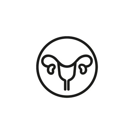 Human uterus line icon. Medicine, body, nature. Human organs concept. Vector illustration can be used for topics like biology, anthropology, physiology Illustration