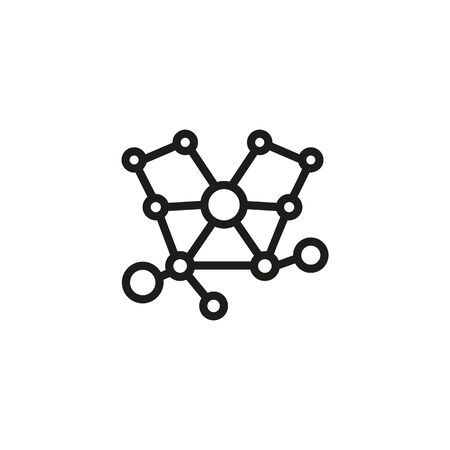 Molecule research line icon. Molecule, chemistry, assessment. Research concept. Vector illustration can be used for topics like medicine, studies, science