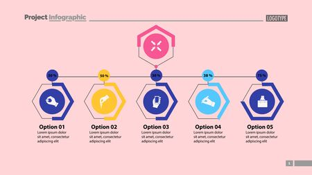 Four options under main point slide template. Business data. Graph, chart, design. Creative concept for infographic, report. Can be used for topics like marketing, workflow, management