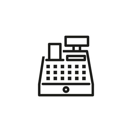 Cashbox line icon. Cash register, counter, paying. Cashier concept. Vector illustration can be used for topics like payment, store, checkout