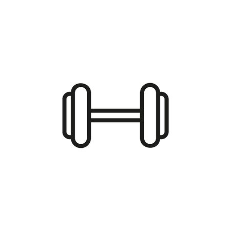 Dumbbell line icon. Sport, dumbbell, weight lifting. Gym concept. Vector illustration can be used for topics like sport, healthy lifestyle, fitness Ilustração