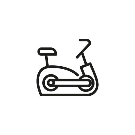 Exercise bike line icon. Bicycle, device, sport. Gym concept. Vector illustration can be used for topics like sport, healthy lifestyle, fitness