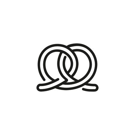 Pretzel line icon. Pastry, confectionary, sweet course, Octoberfest. Desserts concept. Vector illustration can be used for topics like bakery, restaurant, catering