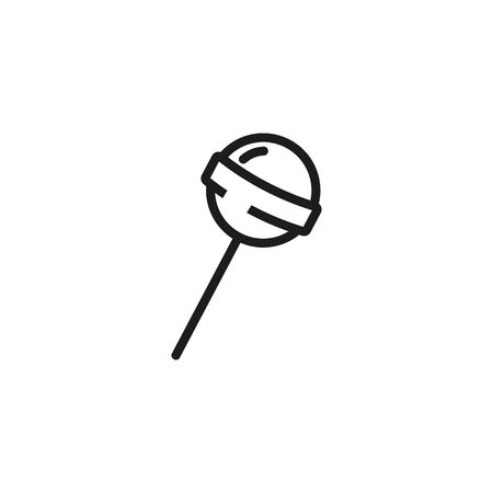Round lollipop line icon. Pastry, confectionary, sweet course. Desserts concept. Vector illustration can be used for topics like bakery, restaurant, catering