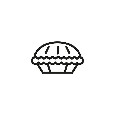Sweet pie line icon. Pastry, confectionary, sweet course. Desserts concept. Vector illustration can be used for topics like bakery, restaurant, catering  イラスト・ベクター素材