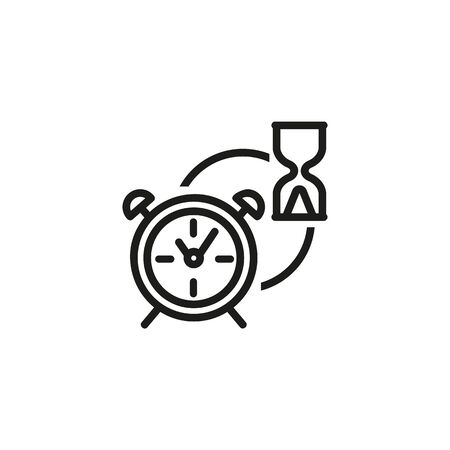 Performance line icon. Sandglass, clock, alarm. Working time planning concept. Vector illustration can be used for topics like time management, business, workflow