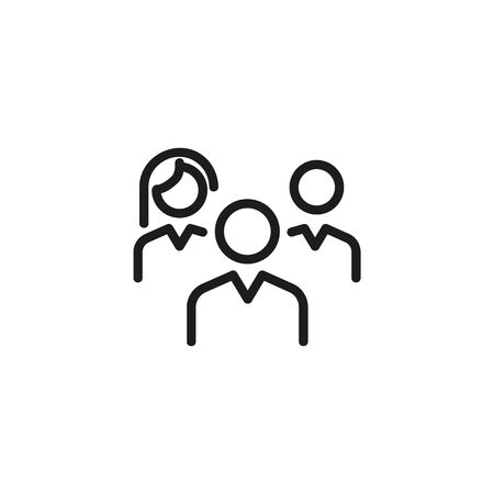 Working in team line icon. Team, leader, ranking. Team leader concept. Vector illustration can be used for topics like productivity, efficiency, planning Banque d'images - 132110864