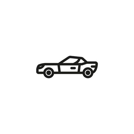 Sport car line icon. Transport, automobile, vehicle. Cars concept. Vector illustration can be used for topics like auto sales, auto repair, dealership Banque d'images - 133190326
