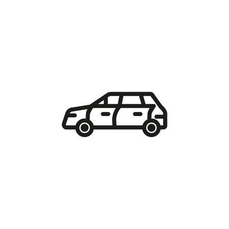 SUV line icon. Transport, automobile, vehicle. Cars concept. Vector illustration can be used for topics like auto sales, auto repair, dealership Illustration