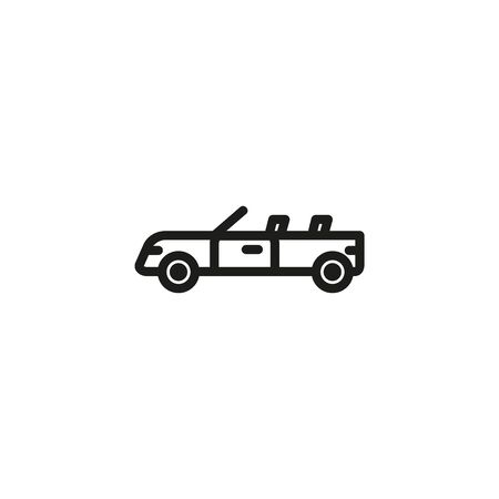 Convertible car line icon. Transport, automobile, vehicle. Cars concept. Vector illustration can be used for topics like auto sales, auto repair, dealership