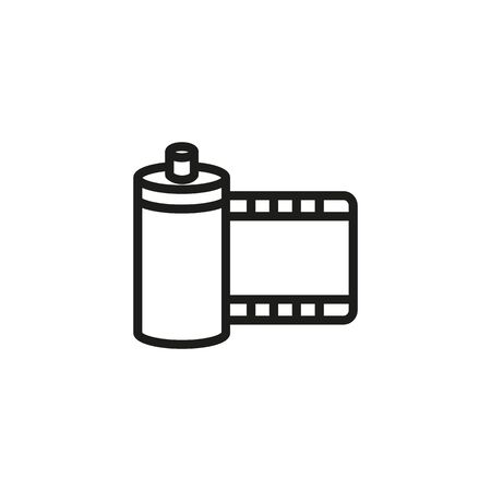 Film line icon. Footage, stock, strip. Movies concept. Vector illustration can be used for topics like entertainment, cinematography, leisure Ilustração