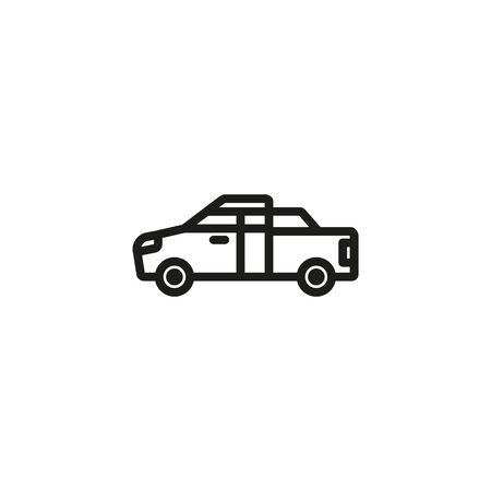 Pickup truck line icon. Transport, automobile, vehicle. Cars concept. Vector illustration can be used for topics like auto sales, auto repair, dealership Stock Vector - 133300342