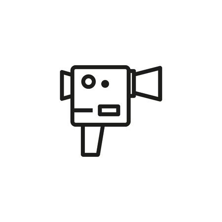 Super 8 camera line icon. Camera, equipment, filming. Movies concept. Vector illustration can be used for topics like entertainment, cinematography, leisure