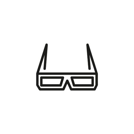 3D glasses line icon. Glasses, spectacles, cinema. Movies concept. Vector illustration can be used for topics like entertainment, cinematography, leisure
