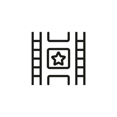Cinematography line icon. Footage, strip, star. Movies concept. Vector illustration can be used for topics like entertainment, cinematography, leisure