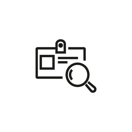Search ID line icon. Identification, card, checking. Paid search concept. Vector illustration can be used for topics like finance, marketing, analytics