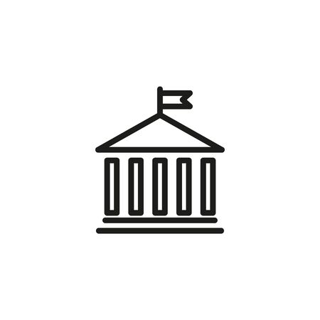 Financial building line icon. Money, finance, building. Government concept. Vector illustration can be used for topics like public services, politics, executive Banque d'images - 133300514