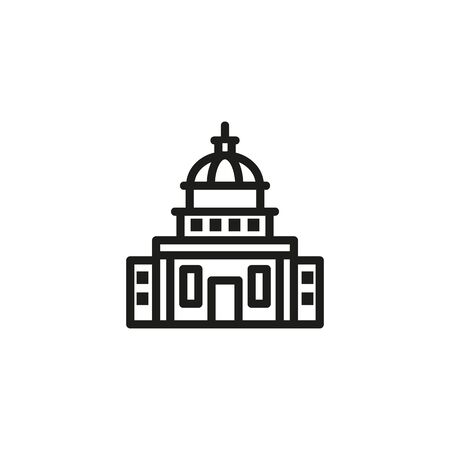 Government building line icon. Building, administration, executive. Government concept. Vector illustration can be used for topics like public services, politics, executive Banque d'images - 133300517