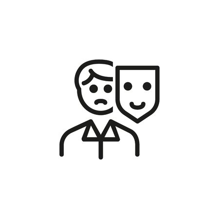 Appearance line icon. Mask, person, changing. HR concept. Vector illustration can be used for topics like work search, headhunting, business
