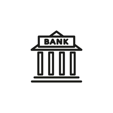 City bank line icon. Money, finance, building. Government concept. Vector illustration can be used for topics like public services, politics, executive Illustration
