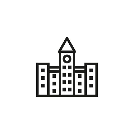 City government line icon. Building, administration, executive. Government concept. Vector illustration can be used for topics like public services, politics, executive