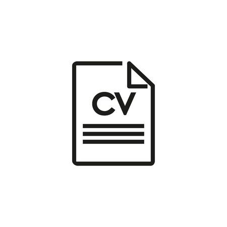 CV line icon. Resume, application, CV. Job search concept. Vector illustration can be used for topics like work search, headhunting, business Ilustração